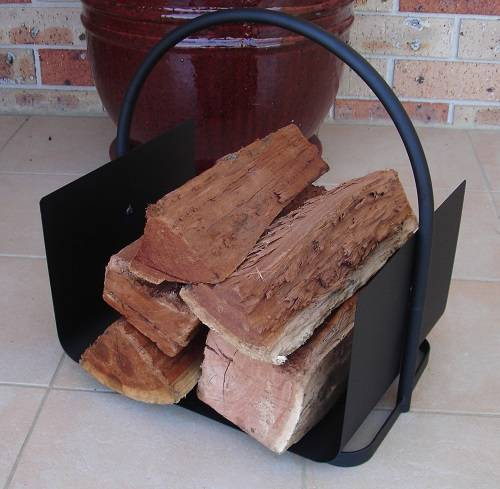 LOG BASKET INDOOR | Black