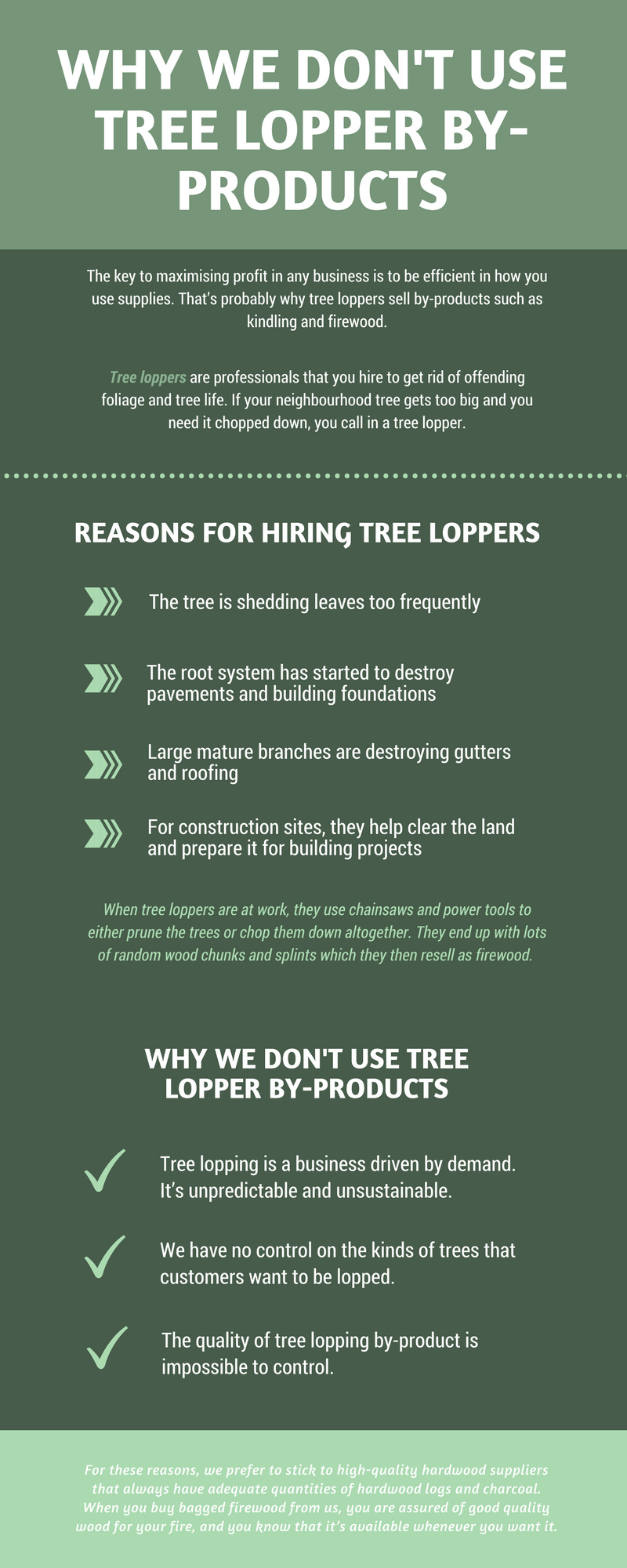 Why we don 39 t use tree lopper by products ample firewood for What do we use trees for