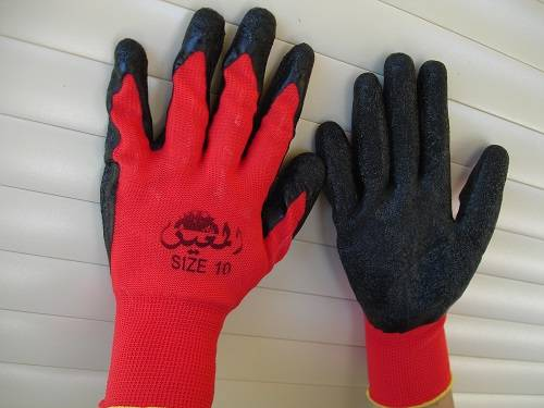 red gloves for firewood